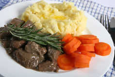 Lamb fricassee horizontal Royalty Free Stock Images