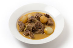 Lamb fricassee with onion Stock Images