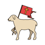 Lamb of god symbol Royalty Free Stock Photo