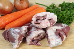 Lamb heart stew ingredients Stock Photography