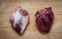 Lamb hearts Stock Photo