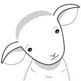 Lamb illustration. Cute lamb simple vector illustration royalty free illustration