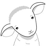 Lamb illustration. Cute lamb simple vector illustration Royalty Free Stock Photos