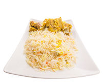 Lamb Kabsa IV. Lamb Kabsa rice. A popular traditional Middle Eastern cuisine Royalty Free Stock Images
