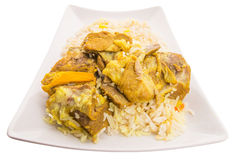 Lamb Kabsa V. Lamb Kabsa rice. A popular traditional Middle Eastern cuisine Stock Photos