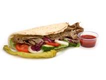 Lamb Kebab. With fresh salad Stock Photo