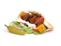 Lamb Kebab. With Fresh grilled Vegetables Stock Image