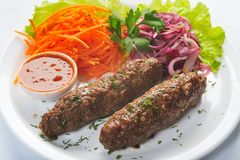 Lamb kebab Royalty Free Stock Images
