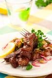 Lamb kebabs Stock Image