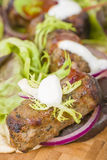 Lamb Kebabs in Flatbread Stock Image