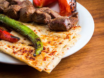 Lamb kebabs Royalty Free Stock Images
