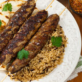 Lamb Kebabs Stock Photos