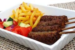 Lamb Kofta Kebabbs Fotografering för Bildbyråer