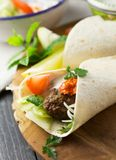 Lamb kofta wraps royalty free stock image