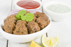 Lamb Koftas Stock Photography