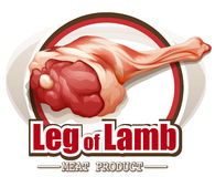 Lamb leg Stock Photo