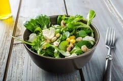 Lamb lettuce salad Stock Photos