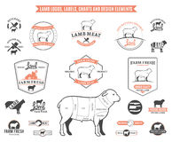 Lamb Logos, Labels, Charts and Design Elements Stock Photography