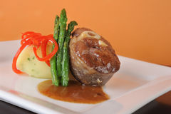 Lamb Main Course Royalty Free Stock Photo