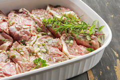 Lamb Marinating Stock Images