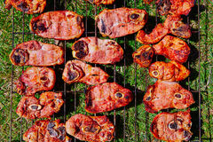 Lamb meat grilled at bar b cue from Spain Stock Images