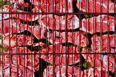 Lamb meat grilled at bar b cue from Spain Stock Photos