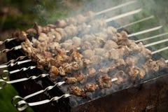 Lamb meat shashlik Royalty Free Stock Photo