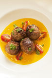 Lamb meatballs in smoked tomato sauce Royalty Free Stock Photography
