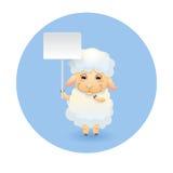 Lamb med signboarden Fotografering för Bildbyråer