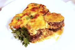 Lamb moussaka Royalty Free Stock Photo