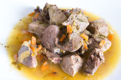 Lamb offal stew Royalty Free Stock Photo