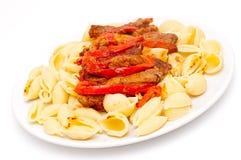 Lamb and pasta Royalty Free Stock Image