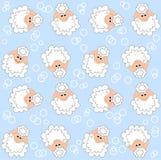 Lamb pattern seamless stock photography