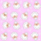 Lamb pattern seamless Stock Images