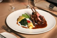 Lamb plate Stock Photography