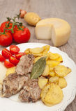 Lamb with potatoes Stock Photography