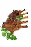 Lamb Rack. Roasted rack of lamb ready to serve Stock Photography