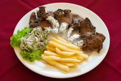 Lamb Rack, lebanese food. Royalty Free Stock Photo