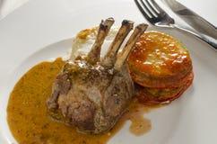 lamb rack roasted Στοκ φωτογραφία με δικαίωμα ελεύθερης χρήσης