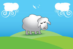 Lamb - Religious Holidays Greeting Card. Design intended for religious holidays. Greeting Card Stock Image