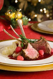 Lamb rib chops Stock Photo