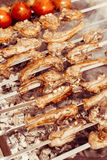 Lamb ribs barbequed Stock Images