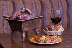 Lamb ribs: grill Royalty Free Stock Image