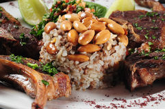 Lamb ribs. Middle eastern cuisine royalty free stock photo