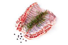 Lamb Ribs Raw Royalty Free Stock Photography