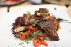 Lamb ribs with vegetables Royalty Free Stock Photography