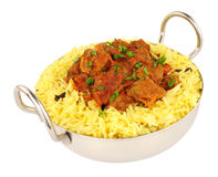Lamb Rogan Josh Curry Meal Royalty Free Stock Image