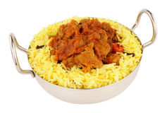 Lamb Rogan Josh Curry Meal Royalty Free Stock Images