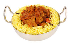 Lamb Rogan Josh Curry Meal Royalty Free Stock Photo