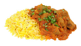 Lamb Rogan Josh Curry With Rice Stock Photo